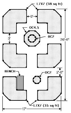 Exmaple Diagram Showing  Raised Cedar Garden Bed Arrangement
