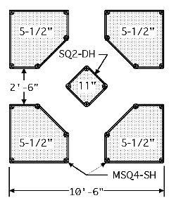 Small Diagram of Arranged Raised Cedar Garden Beds